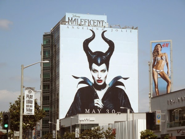 Giant Angelina Jolie Maleficent movie billboard