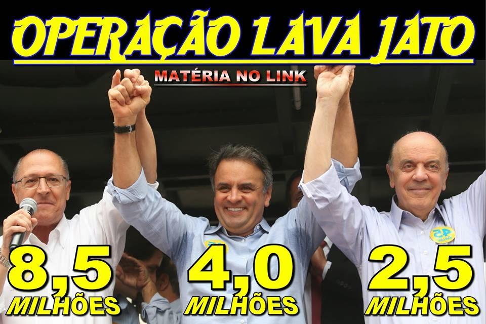 Aecio Neves, Geraldo Alckmin e Serra Lava Jato PSDB