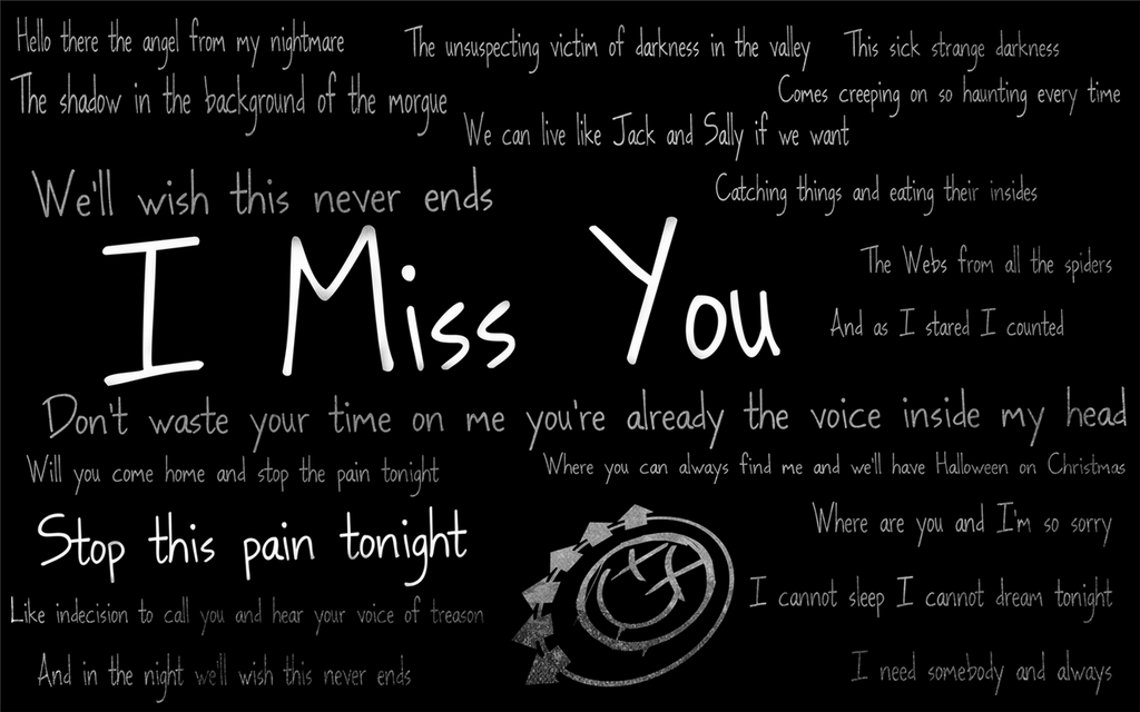 Blink 182 Album I Miss YouBlink 182 Lyrics I Miss You