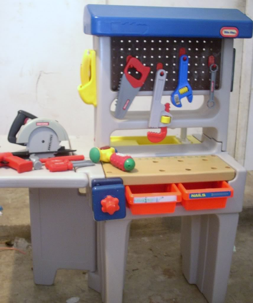 Nostalgia blog round 17 Fisher price tool bench