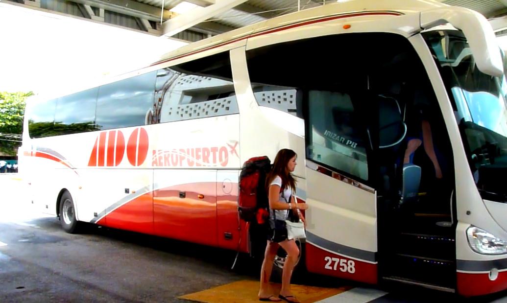 viaje por autobus: