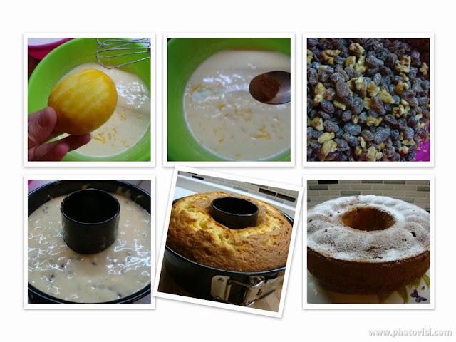 üzümlü cevizli kek, kek yapımı, tarif, ne pişirsem, ikram, misafire, kokoş kek, kek tarifi, çay saati, unlu tatlılar, tatlı