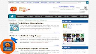 template media blogger