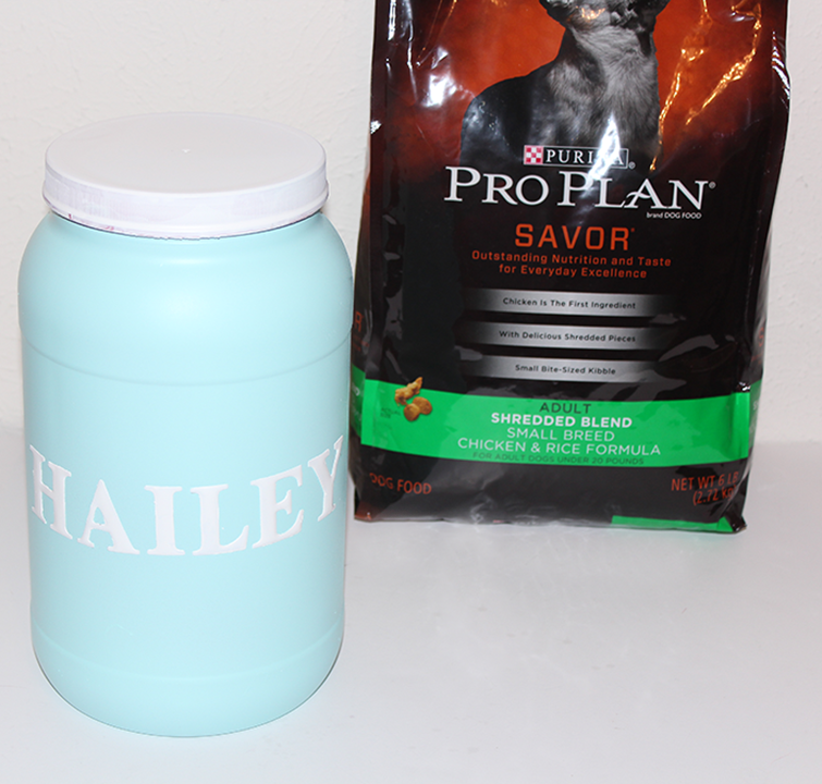 DIY Personalized Dog Food Container Tutorial