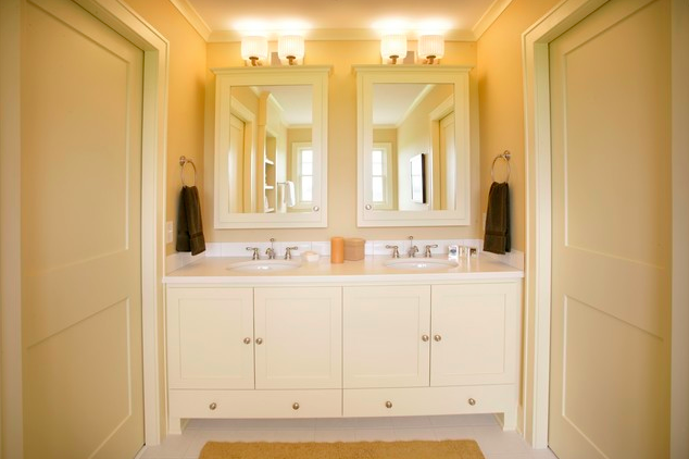 Bringing the gold to your household jack and jill for Jack and jill bathroom vanity