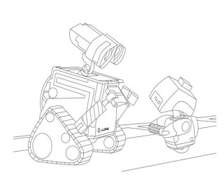wall-e colouring pages for kids