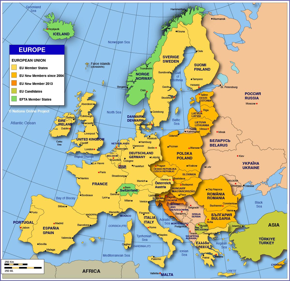Netherlands Norway Map