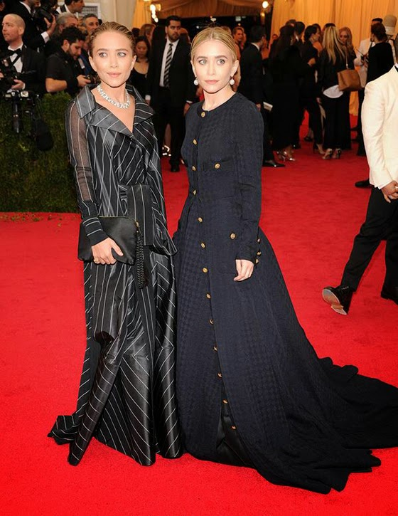 Mary Kate Ashley Olsen Met Gala Ball 2014