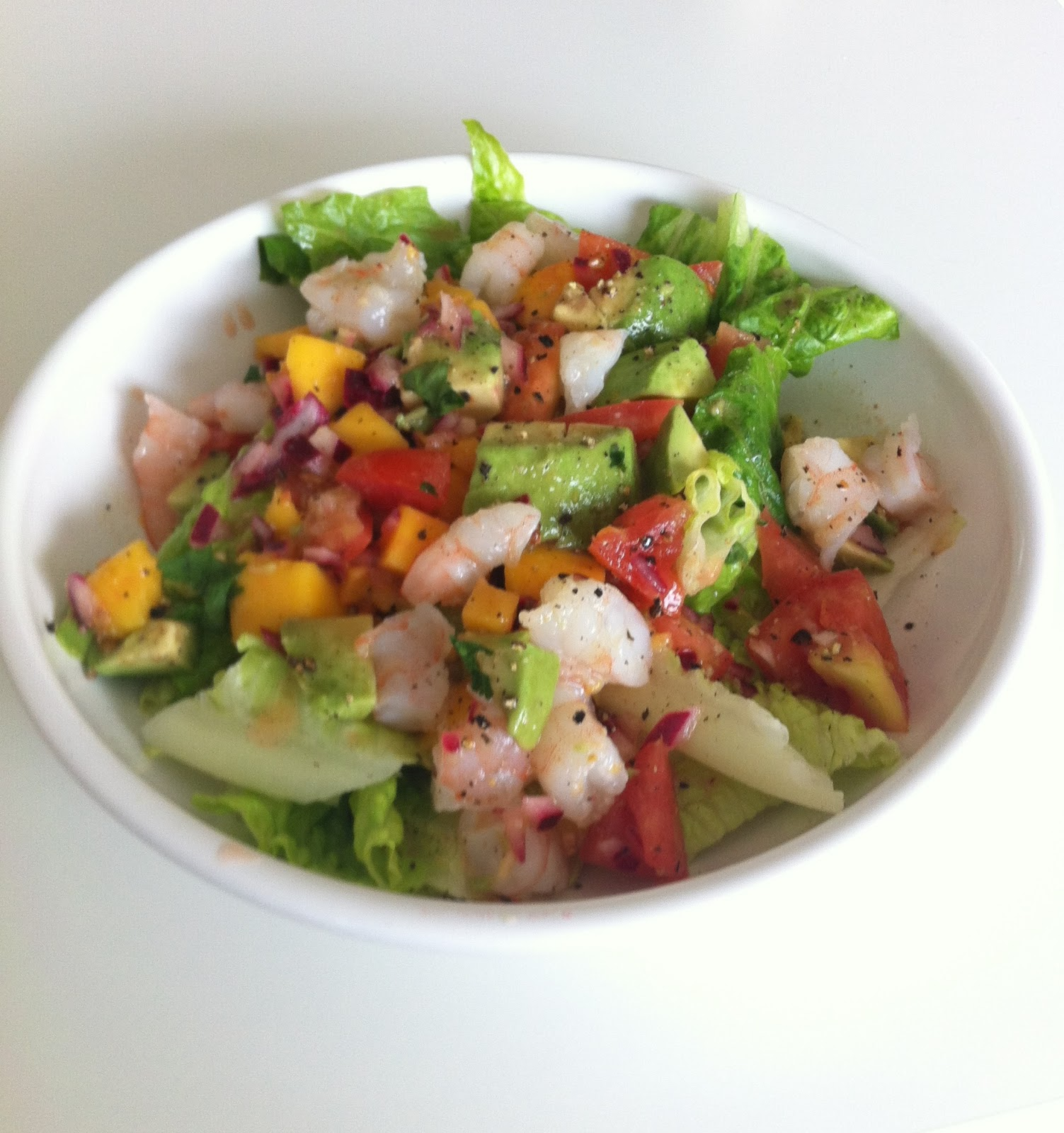 Girl In The City: Zesty Lime, Shrimp and Avocado Salad