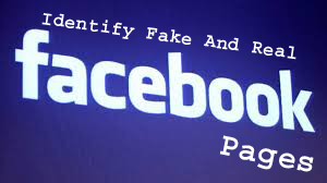 Identify real and fake facebook pages