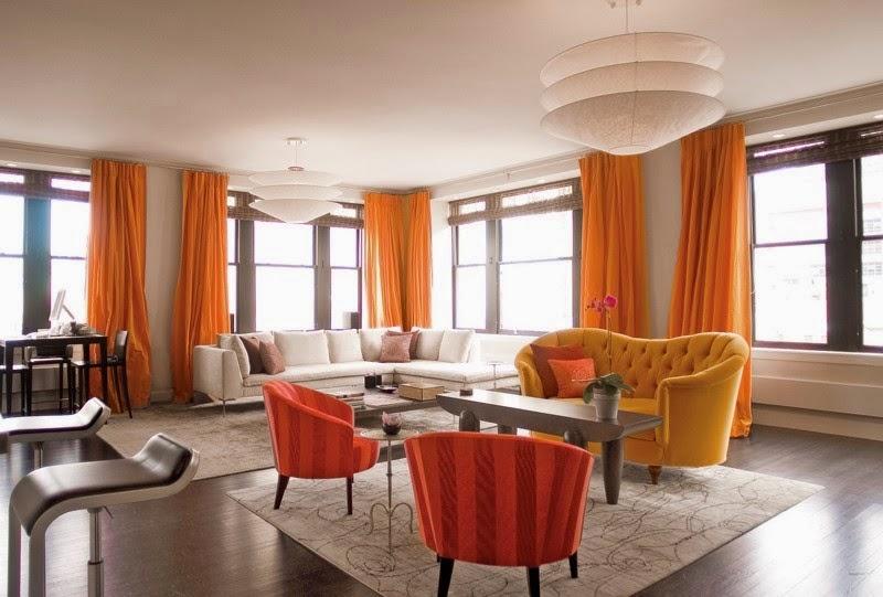 انواع ستائر غرف الجلوس