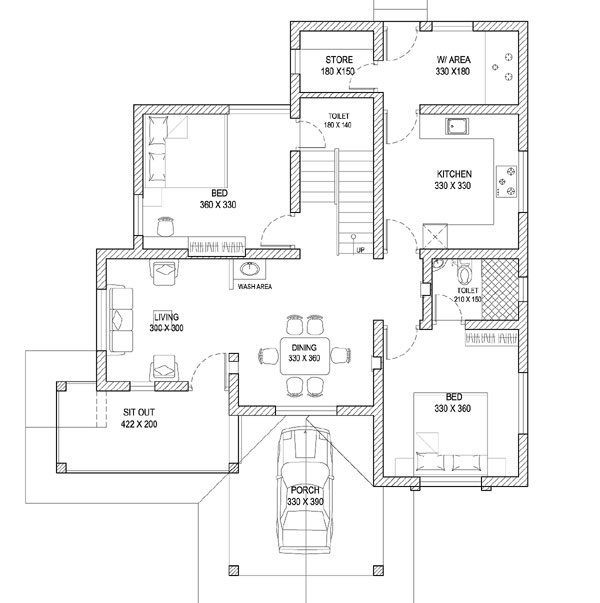 Plan 3d kerala style home engineering dairy for Home engineering plan