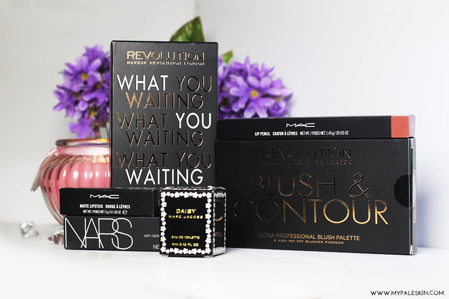 beauty haul, mac, make up revolution, nars, marc jacobs, blogger, blog, haul, my pale skin