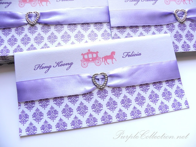Purple Damask Horse Carriage Wedding, Purple, Damask, Purple Damask, Horse, Horse Carriage, Wedding, Purple, Diamond Love, Heng Keong, Felicia, Heng Keong & Felicia