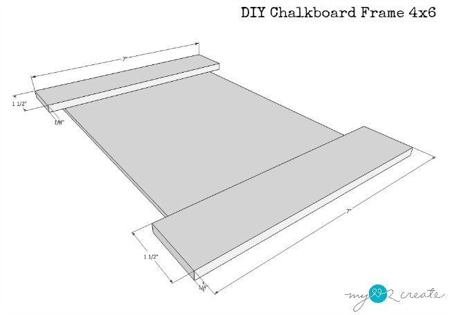plans for 4x6 chalkboard frame