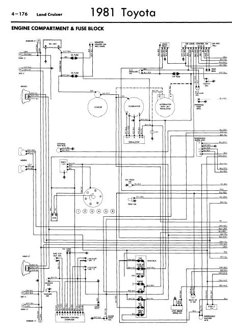 toyota land cruiser 1981 wiring diagrams