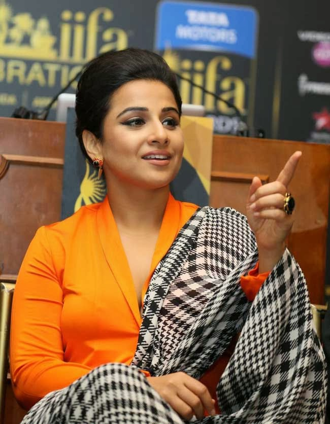 Vidya Balan at IIFA Press Conference in New York