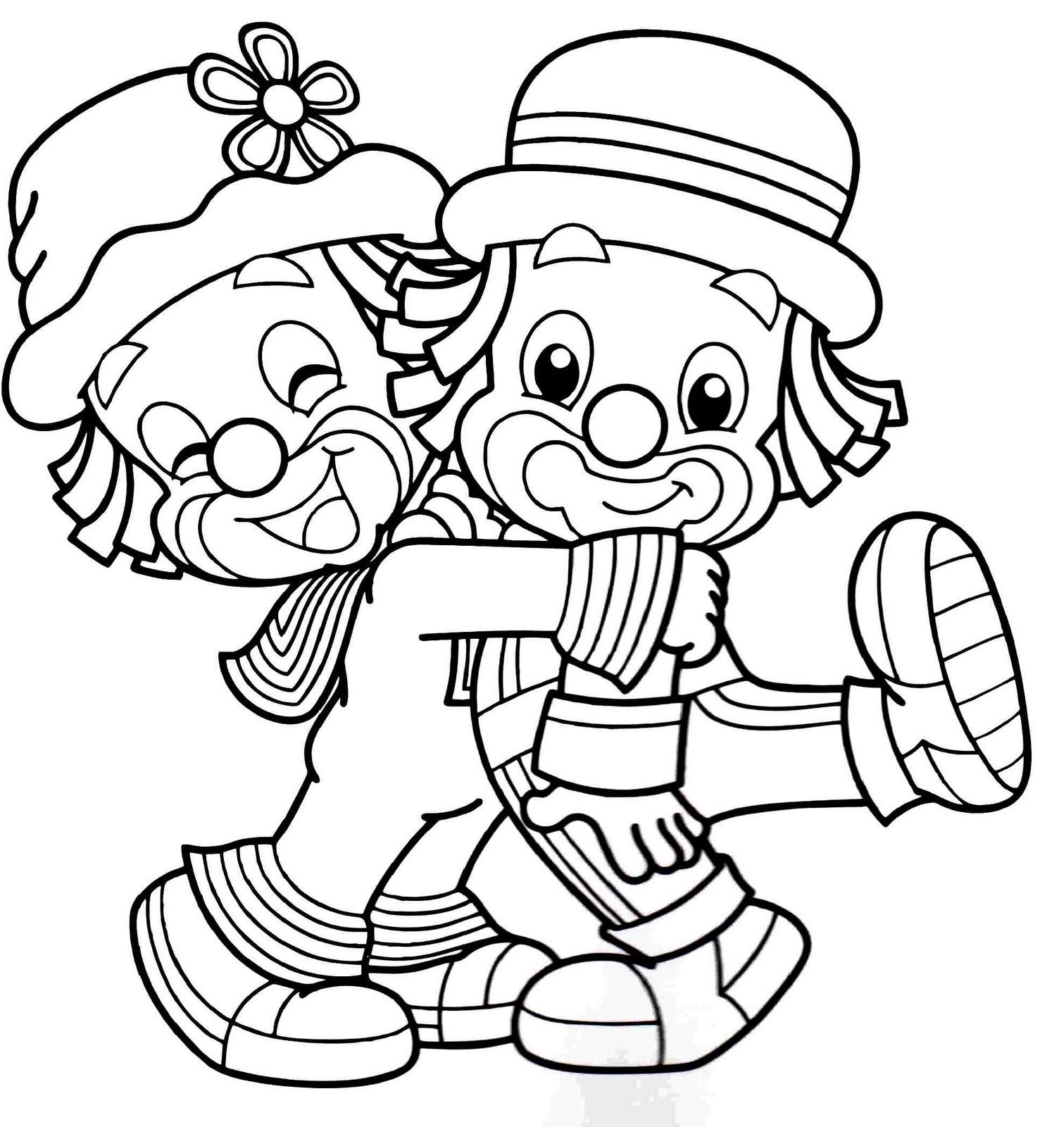imagens pequenas para colorir circo