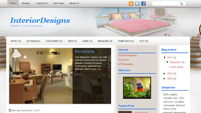 Interior Design Blogger Template