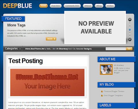 Deep Blue Blogger Theme