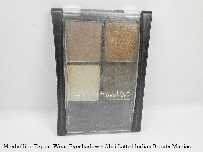 Maybelline New York Expert Eyes Chai Latte Eye Shadow Quad review swatch