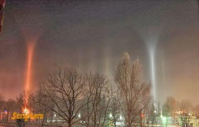 Tiang-Tiang Misteri Kelihatan Di Langit