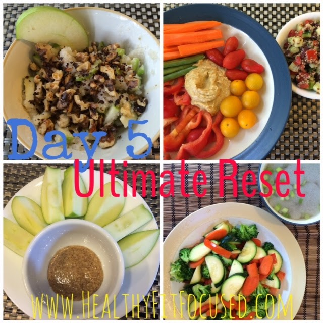 Ultimate Reset Day 5 Meals