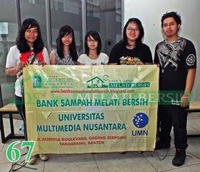 Bank Sampah Melati Bersih Universitas Multimedia Nusantara Gading Serpong Tangerang
