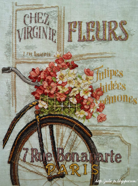 вышивка крестом, Dimensions 35195 Parisian Bicycle, Парижский велосипед