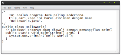 Cara membuat Hello World Console (Java)