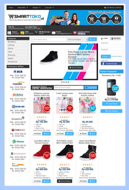 Template toko online sederhana