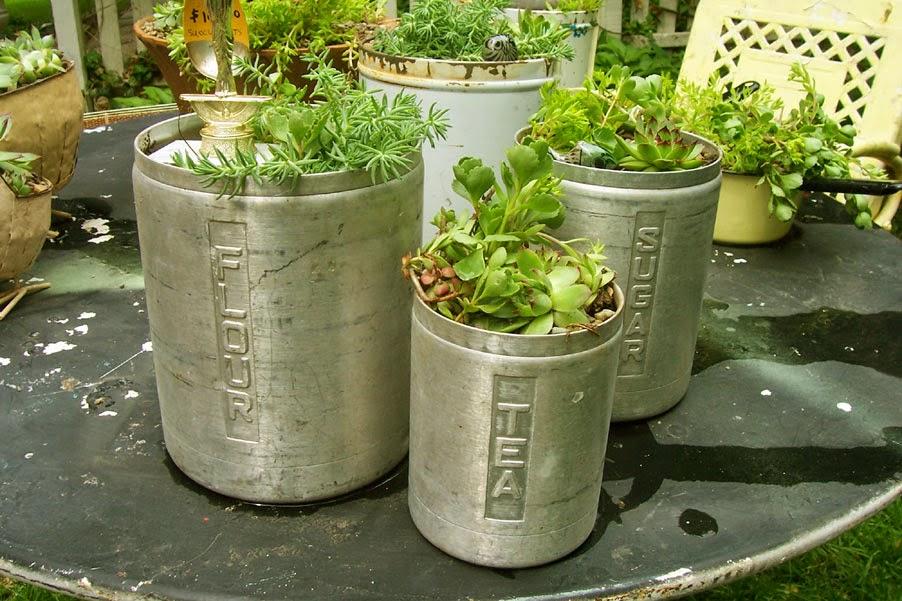 Saturdays Vintage FindsVintage Junk Succulent Planter Tutorial
