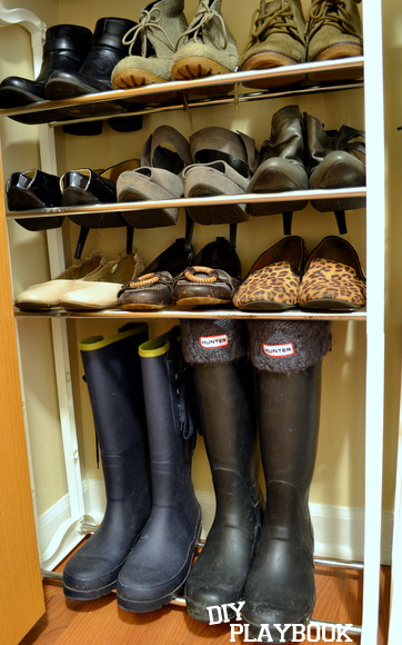 The Container Store shoe racks were perfect for our space