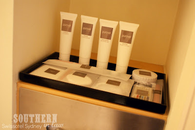 Swissotel Sydney Executive Club Room - Bathroom and Purovel Amenities