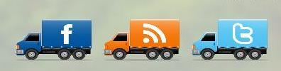 Как настроить и установить в блог кнопки соц сетей в виде движущихся машинок