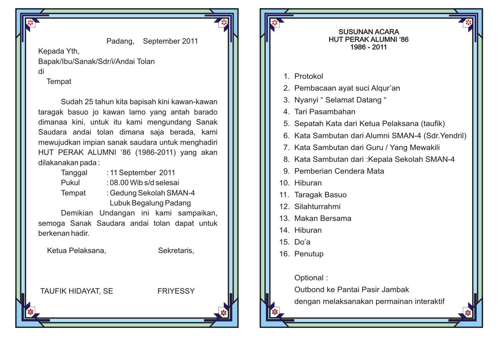 Proposal Alumni Perak SMA 4'86 Padang