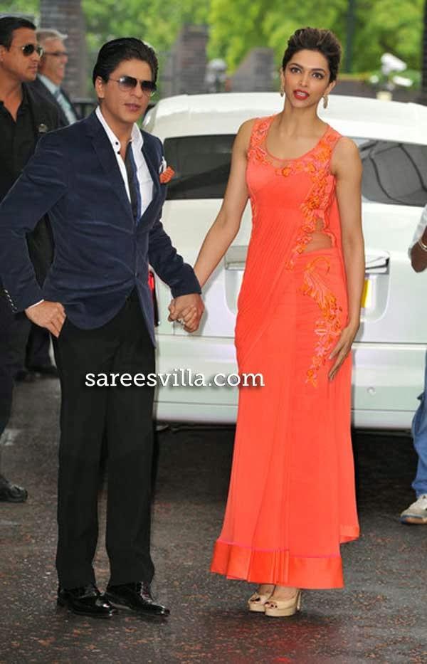 Deepika Padukone In Saree Gown | Sarees Villa