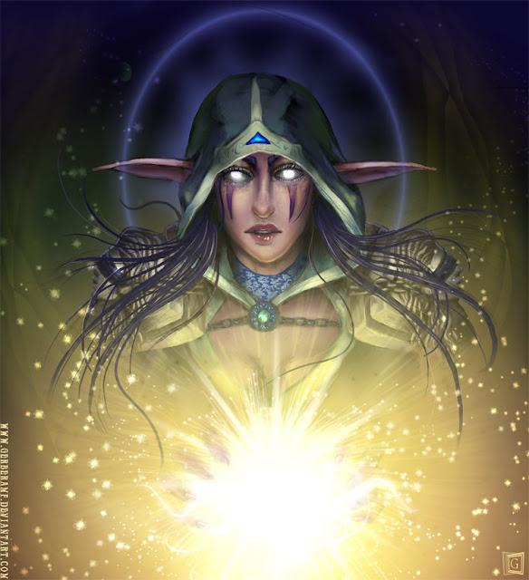 The Night Elf Priestess por gerberaMF
