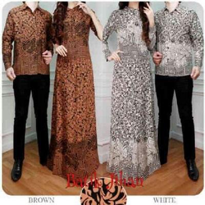 Supplier Batik Couple Murah Jakarta Bahan Rayon Murah Warna Putih Keren