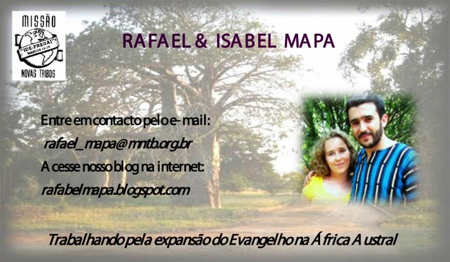 Missionários Rafael e Isabel Mapa