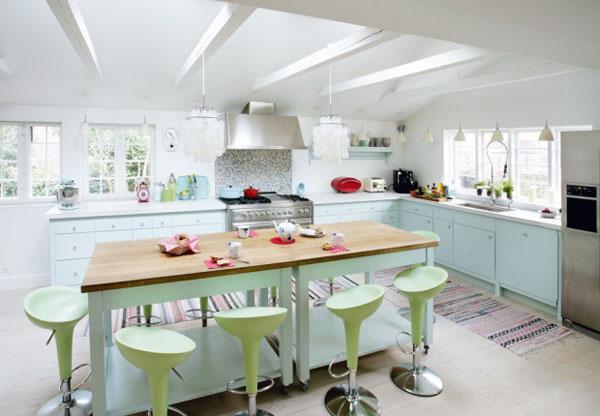 Cocinas de ensue o con colores pastel decoraciones de for Ubicacion de cocina