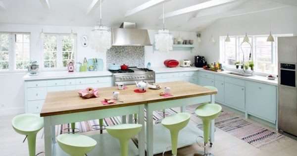 Cocinas de ensue o con colores pastel decoraciones de - Cocinas de ensueno ...