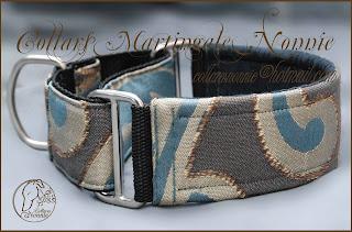 Collar galgo modelo Dragonfly en 4 cm de ancho foto 3