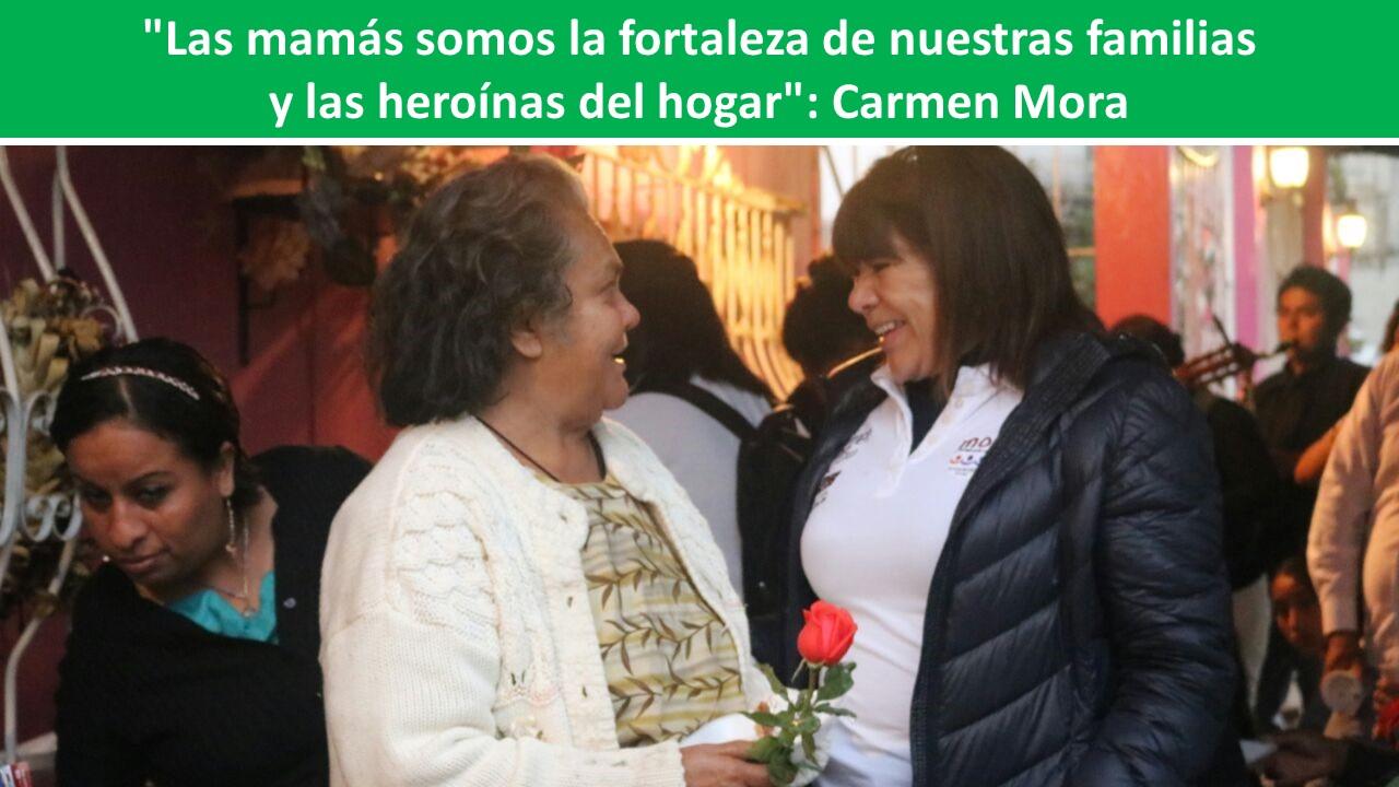 """nuestras familias y las heroínas del hogar"""": Carmen Mora"""