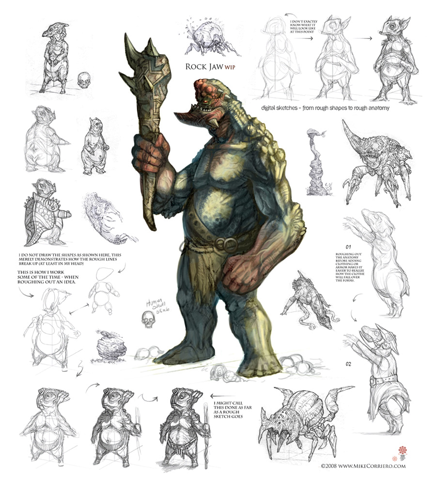 Character Design For Games Book : Character and creature design notes for