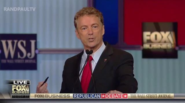 Rand Paul pen Fox Business Network Republican debate