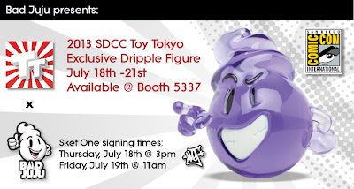 San Diego Comic-Con 2013 Exclusive Purple Dripple Resin Figure by Bad Juju & Sket One