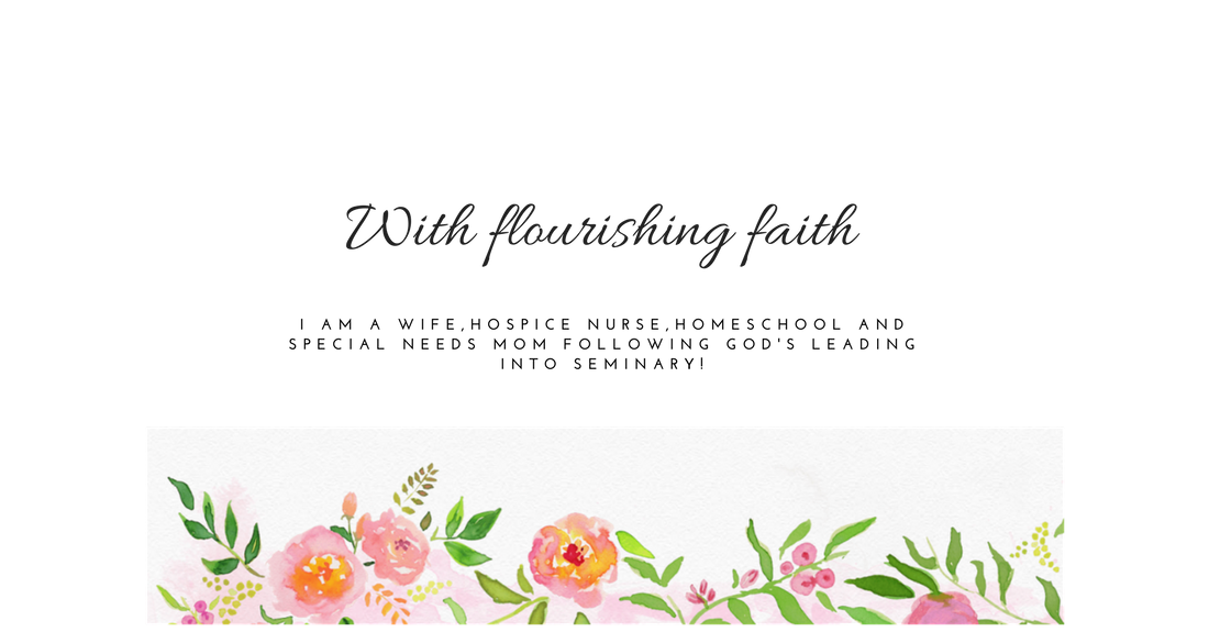 With flourishing faith