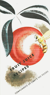 Libby's fruit juice recipe pamphlet front cover