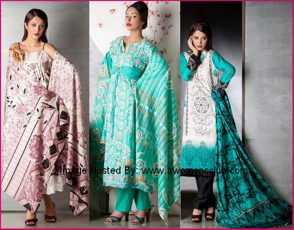 Fashion And Style Firdous Fashion Bring Firdous Linen Collection For Winter 2012
